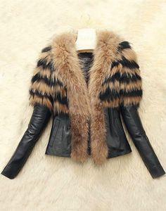 Collar Faux Fur Embellished Jacket