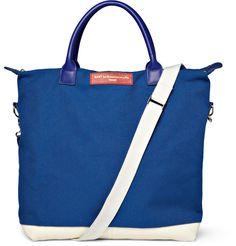 WANT Les Essentiels de la VieO'Hare Leather-Trimmed Cotton-Canvas Tote Bag|MR PORTER. $310.09