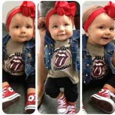 Those teeny chucks!  I know Hope would dress her child like this.