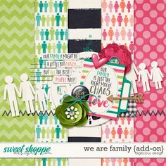 Quality DigiScrap Freebies: We Are Family mini kit freebie from Digilicious Design