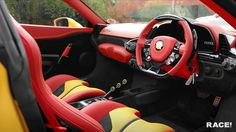 Novitec Ferrari 458 Speciale A by RACE! - Motorward red yellow and black interior