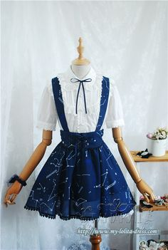★★★ Newly Added: The **Replica** of ♡Angelic Pretty Cosmic Skirt/Salopette♡ ★★★ Only 41.99USD, High Quality Guaranteed: http://www.my-lolita-dress.com/replia-angelic-pretty-cosmic-lolita-skirt-salopette-tl-7
