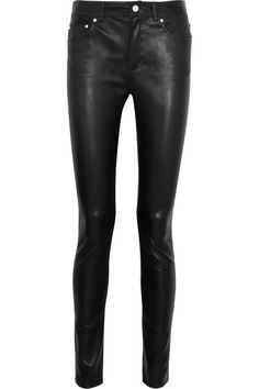 Olivia Palermo's #PFW Pin Picks: Try these rockin' leather pants by Acne Studio to recreate the look from Givenchy SS'15.