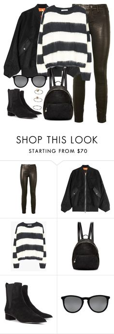 """""""Untitled #3002"""" by elenaday on Polyvore featuring J Brand, Alexander Wang, STELLA McCARTNEY, Ash, Ray-Ban and Topshop"""