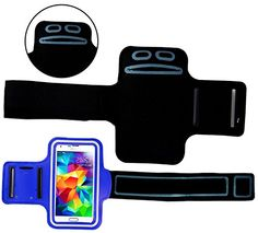 """myLife Ultramarine Blue, Black and White {Rain Resistant Velcro Secure Running Armband} Dual-Fit with Key Slot Jogging Arm Strap Holder for Samsung Galaxy S5 """"All Ports Accessible"""" myLife Brand Products http://www.amazon.com/dp/B00SLWAZ2C/ref=cm_sw_r_pi_dp_DWG-ub0WQ8CYG"""