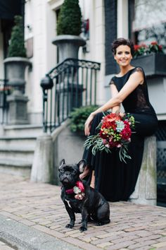Romantic Pantone Marsala and black wedding inspiration shoot with a black wedding dress and marsala red bridal bouquet. Black Bridesmaids, Black Bridesmaid Dresses, Black Wedding Dresses, Wedding Black, Red Fall Weddings, Fall Wedding Colors, Samhain, Wedding Color Combinations, Bridal Portraits