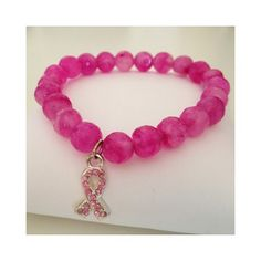 bracelets bracelets bracelets bracelets  bracelets bracelets bracelets bracelets  Semi Precious Stone Beaded Bracelet with Breast Cancer Ribbon. 10% of sales will be donated to Breast Cancer Research! (Free Shipping!)