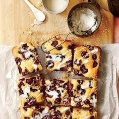 Buttermilk-Glazed Cherry Sheet Cake Recipe