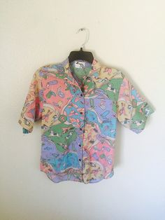 Vintage cowboy button up shirt boots and spurs vibrant pastels eccentric &…