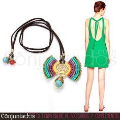 El #collar Wings con tira de cuero y piedra turquesa es #artesanal, es colorido y es el #accesorio perfecto para animar cualquier tipo de #outfit ★ 19,95 € en http://www.conjuntados.com/es/collares/collar-multicolor-wings-con-remate-turquesa.html ★ #novedades #necklace #conjuntados #conjuntada #joyitas #lowcost #jewelry #bisutería #bijoux #complementos #moda #fashion #fashionadicct #picoftheday #estilo #style #GustosParaTodas #ParaTodosLosGustos