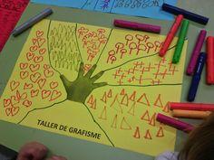 El bloc d'infantil: Taller de grafisme a P4 Outdoor Education, Kids Education, Preschool Math, Kindergarten, Act For Kids, Diy Crafts Videos, Art Plastique, Kids Cards, Fine Motor Skills