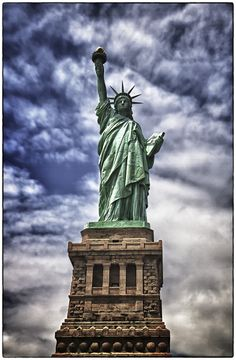 """""""Statue of Liberty""""*-* NYC the movement of the clouds yet still frozen without being blurry"""