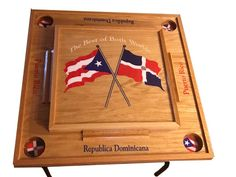 Entryway Furniture, Nursery Furniture, Home Office Furniture, Kids Furniture, Puerto Rico, Domino Table, Dominican Republic Flag, Wooden Leg, Drink Holder