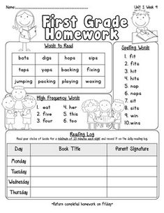 Instead of sending a weeks worth of worksheets send home a monthly pearson reading street homework cover sheets unit 1 fandeluxe Choice Image