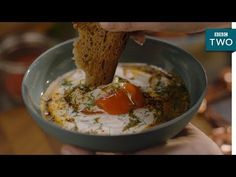 Turkish Poached Eggs recipe - Nigella: At My Table | Episode 1 - BBC Two - YouTube