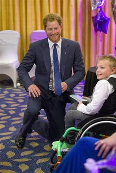 Prince Harry plays with 'bravest children in UK' at charity gala for sick kids - TODAY.com