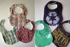 "When that stain just won't come out.... ""Upcycle your old t shirts into baby bibs 