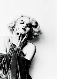 jean harlow and black and white image