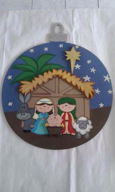 Wooden Ornaments, Christmas Tree Ornaments, Christmas Crafts, Christmas And New Year, Christmas Time, Xmas, Holiday, Sunday School Crafts, Holy Night