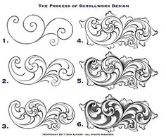 How scrollwork is created. 【 Thanks for following! 】 . . #engraver #engraving #engraved #handengraver #handengraving #handengraved…
