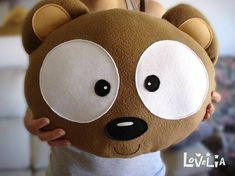 NEBU THE BEAR-Decorative plush pillow by lovelia on Etsy