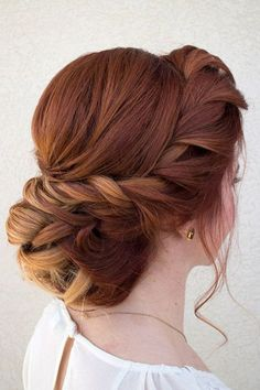 about Hair & Makeup by Steph # about … - Wedding Hairstyles Wedding Hair And Makeup, Hair Makeup, Makeup Hairstyle, Hairstyle Ideas, Red Hair Updo, Easy Hairstyle, Red Hair Upstyles, Red Wedding Hair, Red Bridal Hair