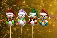 Decorativos muñecos de nieve! Echos con goma eva ..foamy