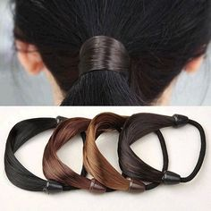 3Pcs Fashion Elastic Ring Ribbon Ponytail Holders Hair Rope Hair Ties For Girls/ Women Hair Styling Tools Hair Accessories