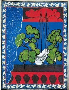 Henri Matisse, Fenêtre à Tahiti 2, 1936, gouache sur toile, 240 x 195 cm, Musée Matisse du Cateau-Cambrésis