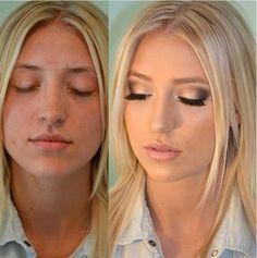 Blond Loura Antes e Depois Before and After Make up Maquiagem Transformação   Instagram: @misspinkbrazil