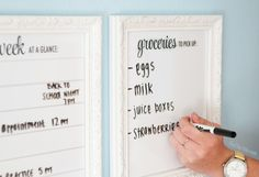 DIY How to Use Frames as a White Board ~ tips for home