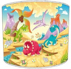 /Plafond Dinosaure Amis pour Enfant Monture 20,3 cm Premier Abat-Jour/