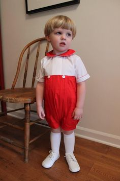 """Sweet new style: """"Classic Christma... Check it out here! http://www.thebubblebee.com/products/classic-christmas-boys-red-and-white-button-bubble-romper?utm_campaign=social_autopilot&utm_source=pin&utm_medium=pin"""