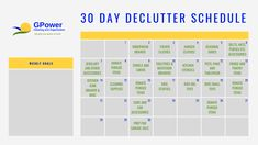 Get you copy of our free declutter schedule!