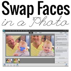 How to swap faces in a photo with Photoshop Elements. Learn how with this video http://www.digitalscrapbookinghq.com/swap-faces-photo/ #photoediting #digiscrap