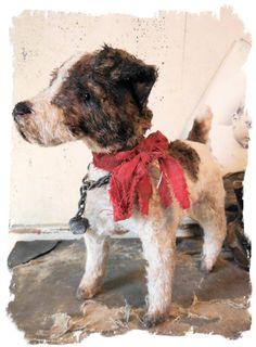 Antique style Fox Terrier dog Pull Toy ~Image by Whendi Bears. http://www.ebay.com/itm/Antique-Style-Fox-TERRIER-DOG-Pull-Toy-vintage-dog-on-wheels-by-Whendi-Bears-/171369709433?_trksid=p2047675.l2557&ssPageName=STRK%3AMESOX%3AIT&nma=true&si=rp8p7KvGrApy6JMRaC%252F9h5pIwu4%253D&orig_cvip=true&rt=nc
