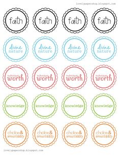Cupcake toppers for YW cupcakes for New Beginnings or YWIE.