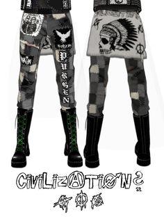 Crust Punk Pants v2 by crowhitewolf.deviantart.com on @DeviantArt