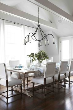 Dining Room design interior - love the all white theme