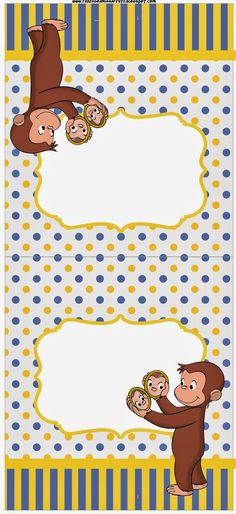 curious george cake template - 80 off sale curious george food tent cards by