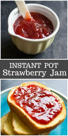 Instant Pot Strawberry Jam is so yumm! You must see the complete recipes. Just Clik the Link to load more complete recipes and video instruction Instant Pot Pressure Cooker, Pressure Cooker Recipes, Pressure Cooking, Canning Recipes, Crockpot Recipes, Lunch Recipes, Summer Recipes, Healthy Recipes, Salad Recipes