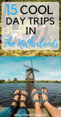 Are you visiting the Netherlands? Check out these 15 day trips in the Netherlands, including day trips from Amsterdam | Canals Amsterdam | Zaanse Schans | Castle de Haar | Rotterdam | Kinderdijk | Windmills in the Netherlands | Utrecht | De Hoge Veluwe | The Hague | Den Haag | Volendam | Typical Dutch Town | Maastricht | Museum Voorlinden | Keukenhof | Efteling | Orchideeën Hoeve in the province of Flevoland | Zeeland | Alkmaar | Madurodam | Giethoorn | The Netherlands inspiration | Holland
