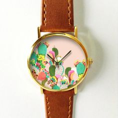 Succulent Cactus Plant Collection Watch 5 Vintage by FreeForme