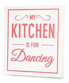 White 'My Kitchen' Wall Art