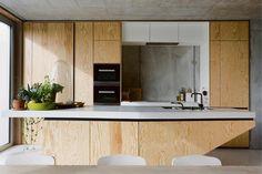 Kitchen Dining, Kitchen Cabinets, Plywood Kitchen, Interior Styling, Interior Design, Raw Wood, Cuisines Design, Kitchenette, Prefab