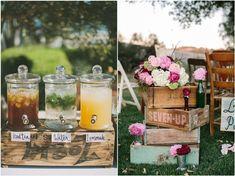 Wooden crate wedding decor idea