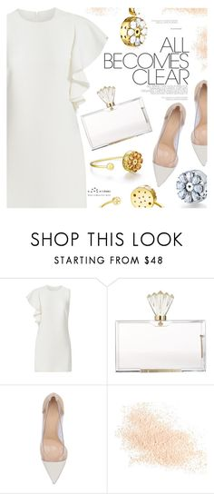 """It's All Clear Now"" by totwoo ❤ liked on Polyvore featuring Elizabeth and James, Charlotte Olympia, Gianvito Rossi and Eve Lom"