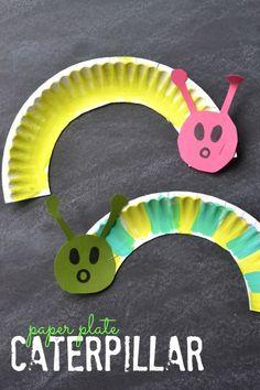 Plate Caterpillar - Kid Craft Paper Plate Caterpillar {Kid Craft} - I want to make a bunch of little ones and make mobiles!Paper Plate Caterpillar {Kid Craft} - I want to make a bunch of little ones and make mobiles! Spring Crafts For Kids, Projects For Kids, Art For Kids, Craft Projects, Spring Crafts For Preschoolers, Craft Kids, Spring Craft Preschool, Paper Plate Crafts For Kids, Toddler Summer Crafts