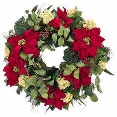 Natural Decorations Inc. Faux Poinsettia Wreath