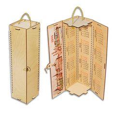 Футляр-календарь четырехгранный из фанеры